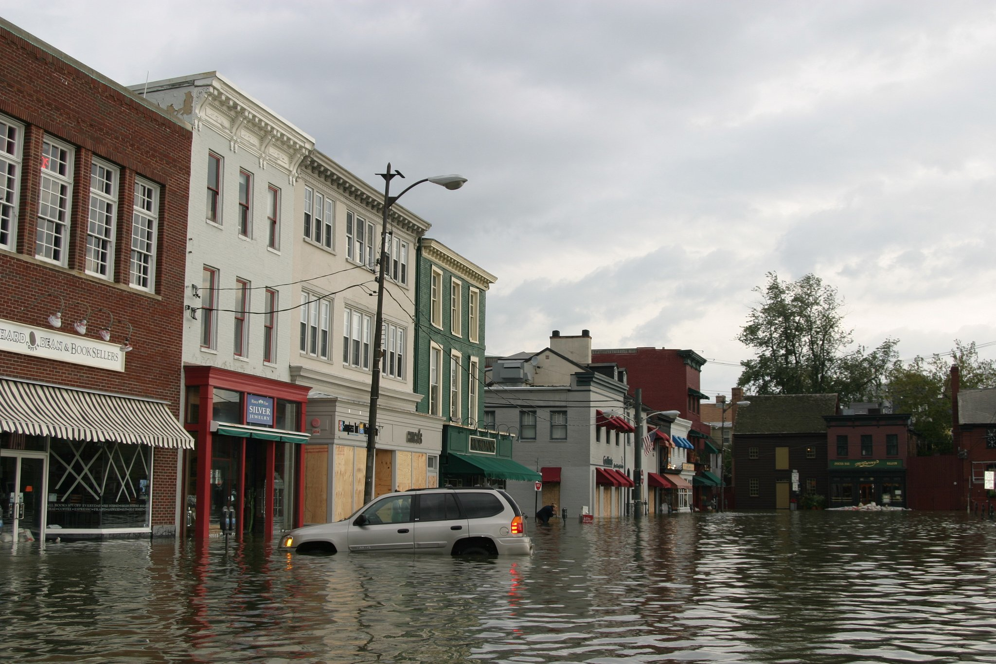 Flooding caused by Hurricane Isabel in 2015.